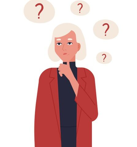 portrait-cute-blonde-girl-jacket-thinking-reflecting-isolated-young-woman-surrounded-by-thought-bubbles-with-question-marks_198278-3464